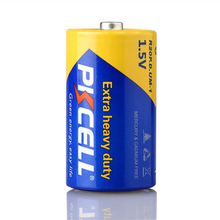 PKCELL or OEM Brand D Type Carbon Zinc Battery R20 with Pvc Jacket
