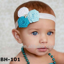2014 NEW wholesale fashion ribbon rosette infant baby headband