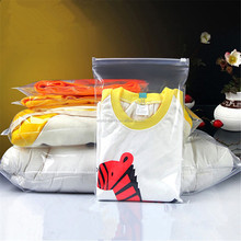 Custom size PE/pvc material plastic slider bag, poly zipper bag