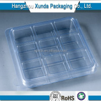 Small Clear Plastic Packaging Box with Dividers for Chocolate