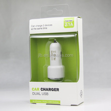 paper box with clear PVC window Packaging for car charger