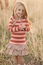 CONICE NINI brand best price stripe tops and polka dots kids short dresses