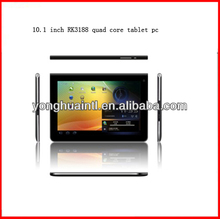 10.1 inch screen rockchip RK3188 quad core 1.8G android 4.1 cheap tablet pc