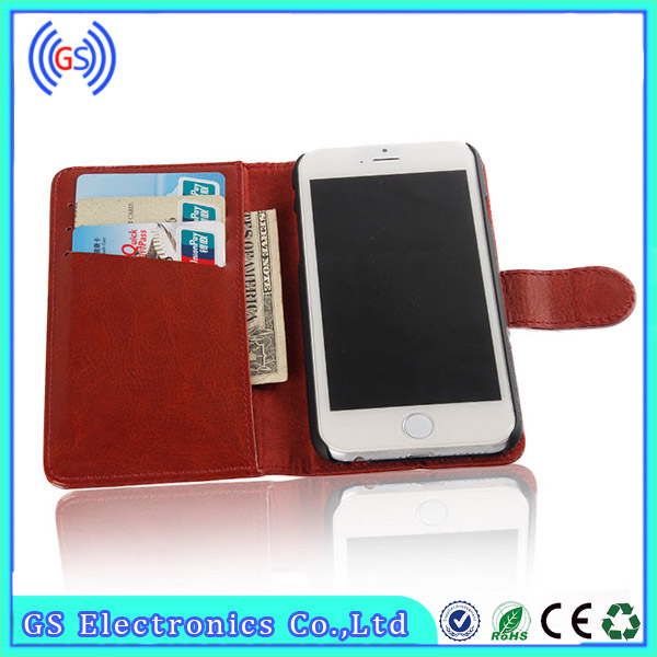 wallet flip genuine vertical flip leather case for samsung galaxy s4