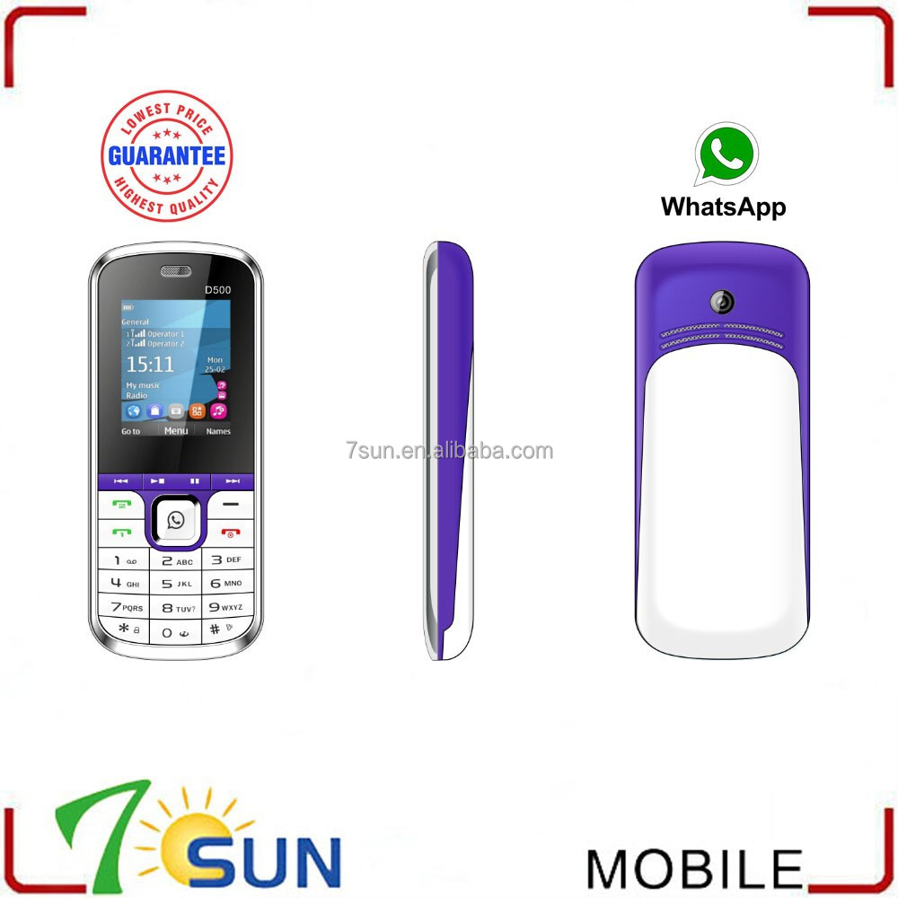 china online shopping cheap d500 quad band dual sim 1.8 whatsapp celular