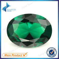 factory direct wholesale 15*20mm green nano gemstone