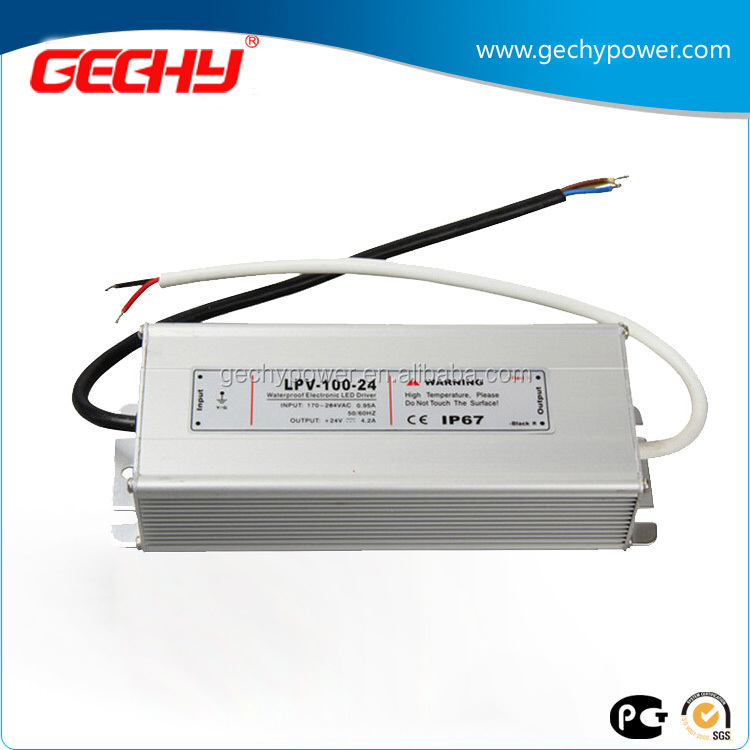 LPV-100 series 100W 12v,24v,36v,48v,IP67 AC/DC LED driver constant voltage waterproof switching power supply