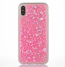 Sequin Phone Case TPU Glitter Gold Foil Phone Case For iphone X, For iPhone 7 7plus TPU Transparent Glitter Foil Flake Case