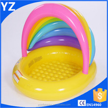 Hot sale new style inflatable swim pool indoor pool for kids with sunshine shelter for water toys