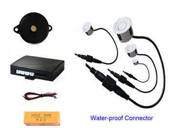 reverse parking system with buzzer warning and waterproof sensors