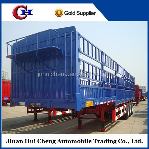 China 3 Axles Heavy Vehicles Cargo Stake Truck Semi Trailers