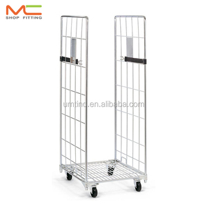 2 side wire roll cage, disassembled shelves
