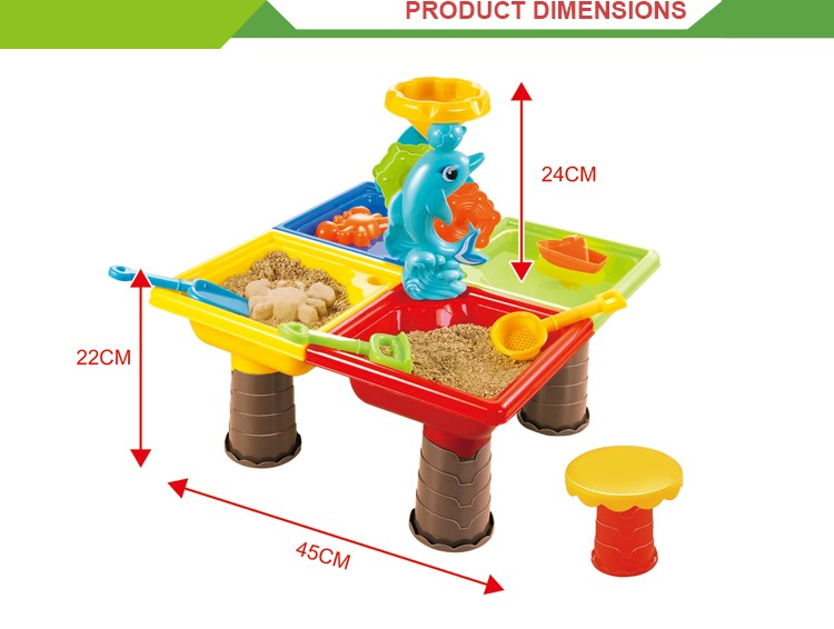 wholesale plastic high quality outdoor beach toy water sand table