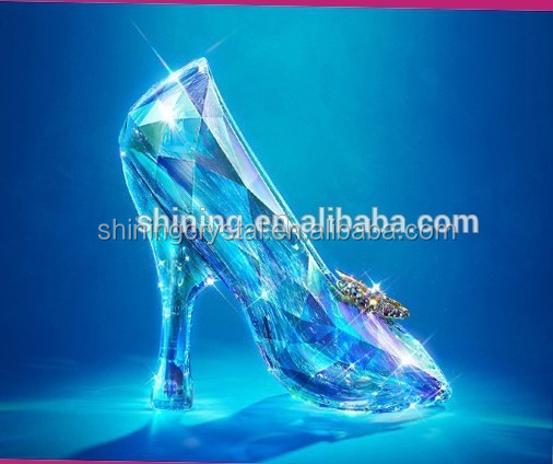 Cinderella's glass slipper crystal High heels gift items