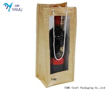 Non-woven Material and Handled Style non woven single bottle wine tote bags