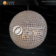 crystal ball with hole crystal ball centerpiece pendant lamp om690