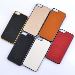 New Arrival Luxury Genuine Leather Sticker Case for apple iphone 6 plus 5.5 inches