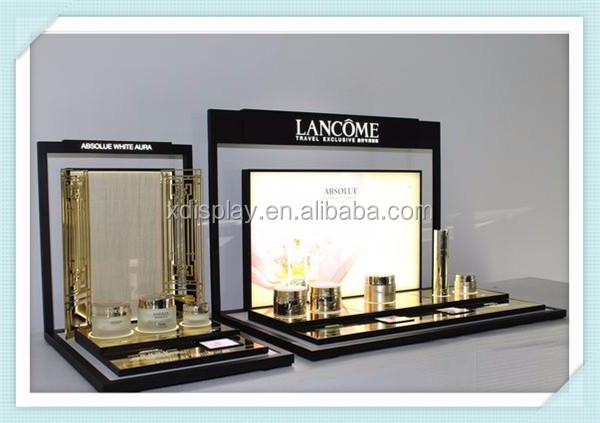 Brand Lancome acrylic material benefit display for cosmetic product display holders
