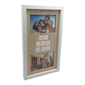 Collage Picture Frame - Displays two 4x6 Inch Pictures with Mat and Glass Protection