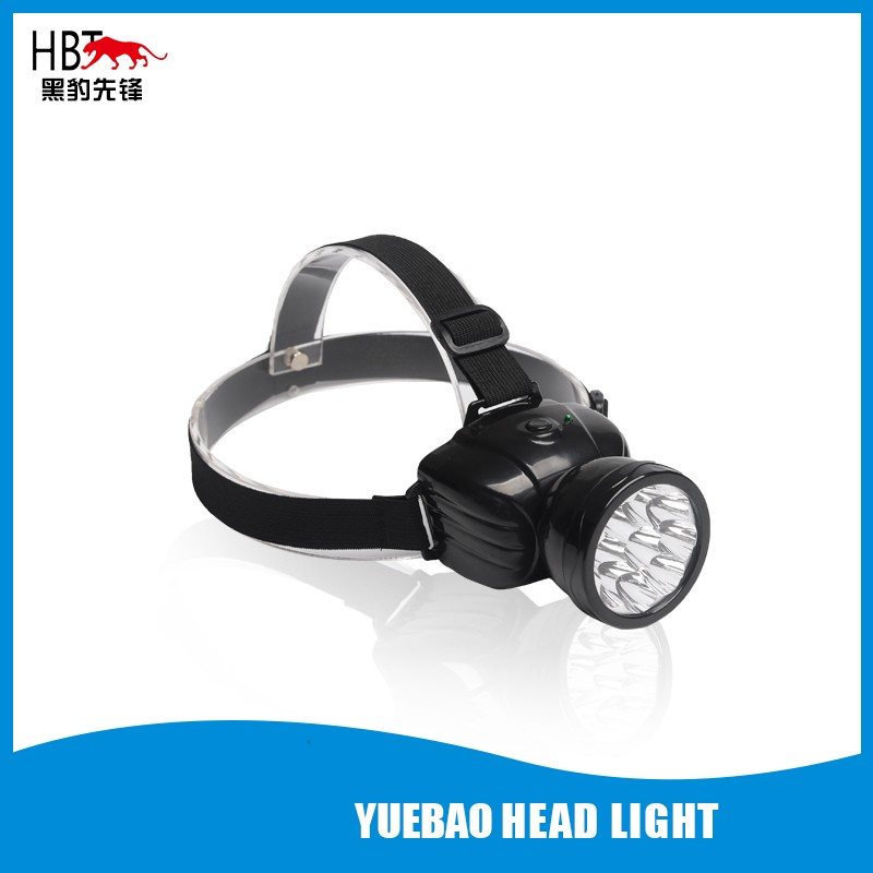 LED rechargeable head light 9LED HBT-929