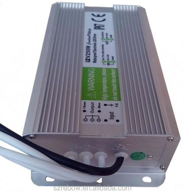 Professional Manufacturer CE RoHS IP67 Standard 250w 12v waterproof electronic led driver