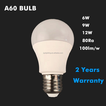 factory cheap price 3000-6500K 220V A60 led bulb 6w 9w 12w