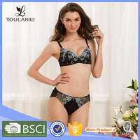 Unique and Fashion Sweet Young Girl Flower Ladies Underwear Sexy Bra And Panty New Design