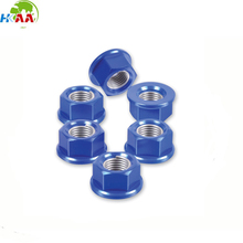 High quality cnc machining blue Aluminum Sprocket bolt nut and wheel bolt