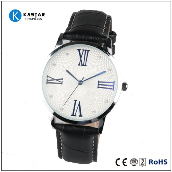 Simple business genuine leather strap watch