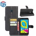 Mobile Phone Magnetic Flip PU Leather Covers Case For Alcatel U5