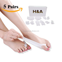 10 Piece of Bunion Protector Corrector Pads, Toe Spacer, Toe Separators HA00486