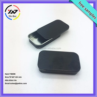 Wholesale Manufacturer empty metal black slide mint tins made in china
