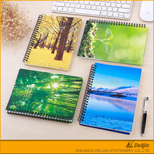 2017 new design pu leather / plastic a4/a5/a6 size refillable spiral china imported cheap bulk notebooks