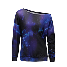 Polyester Wholesale Full Sublimated Girls Fashion Galaxy Print Hoodie