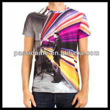 2015 Sublimation Custom Printed T Shirt Made in China