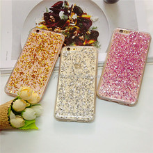2017 New coming hot selling high quality popular For Samsung mate 9 Colorful drop glue shimmering powder mobile phone case