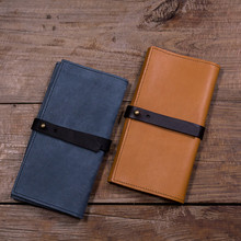 Trifold Clutch Purse Phone Case Wallet Genuine Leather Ladies Hand Purse