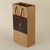 Wholesale promotional strong brown paper wine bags