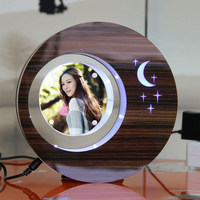 LED suspending in the air magnetic levitation photo frame boys gift items