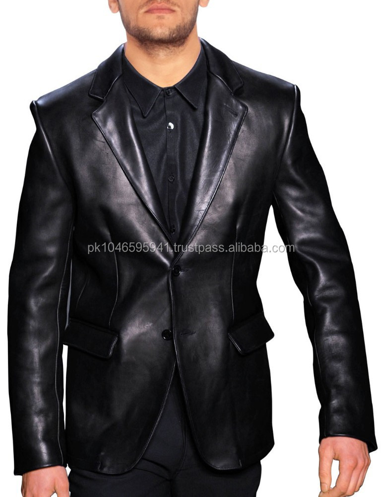 Classic Leather Blazer for Men