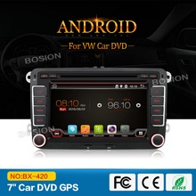 VW Quad Core Touch Screen Android Car Radio Car DVD Player with GPS 3G Wifi Mirror Link Functions + Shipping to Greece