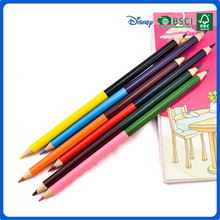 hot sale promotion high quality double end/double side color pencil for children