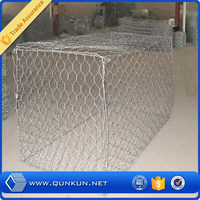 Galvanized gabion basket / galvanized gabion / anping hexagonal mesh