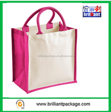 14 Litres shopping bag with side panels canvas and cotton carry handles