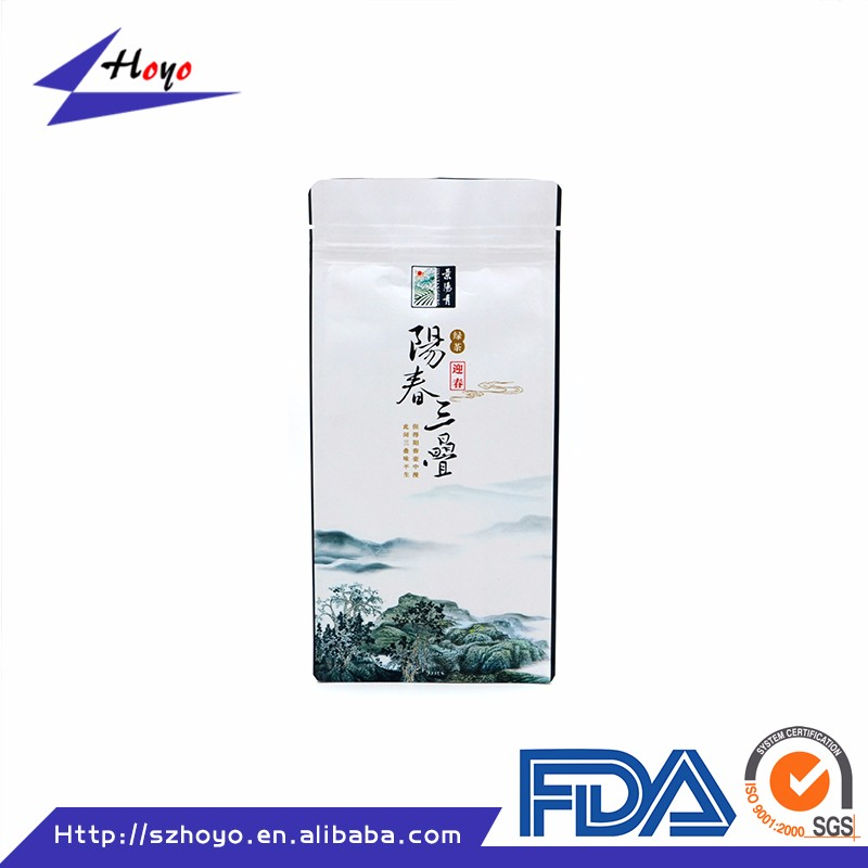 Recycled Plastic Packing Loose Tea White Kraft Paper Packaging Bags With Window/.