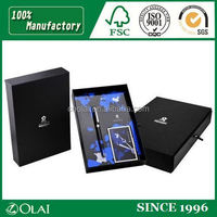 Elegant black matchbox style pen gift box