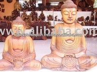 High Quality Polished Wooden Buddha Sculpture