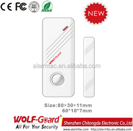 wolf-guard wireless Multi-function Automatic Magnetic Door Window Contact Switch /Alarm Sensor for Intruder Alarm mc-03c