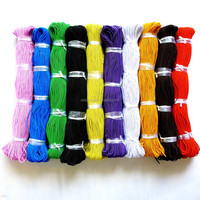 10 Colors 1.2mm 4-cores polyester covered elastic cord 150meters/bundle