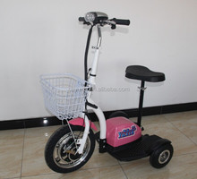 36V 12AH 350W Three Wheels Electric Scooter Foldable